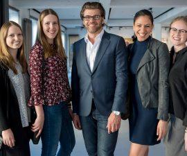 Die Macher: Gunnar Henke und Team (Henke Relations) mit Christian Dunst