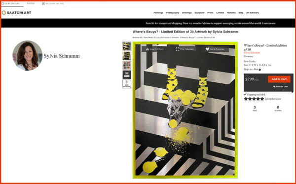 NEW ONLINE PRESENTATION AT SAATCHIART.COM!
